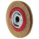 Brosse en fil acier laitonné diam.150mm pour Touret Fartools BG1B50 (110255)