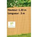 Canisse PVC double face Couleur Bambou  3X1.20 m