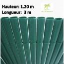 Canisse PVC double face Couleur Vert  3X 1.20 m