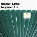 Canisse PVC double face Couleur Vert  3X 1.80 m