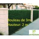 Haie végétale artificielle Vert thuya 140 brins 2Mx3M