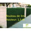 Haie végétale artificielle Vert thuya 140 brins 1.5Mx3M