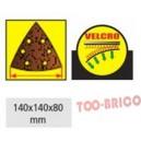Abrasifs triangulaires A40 140x140x80