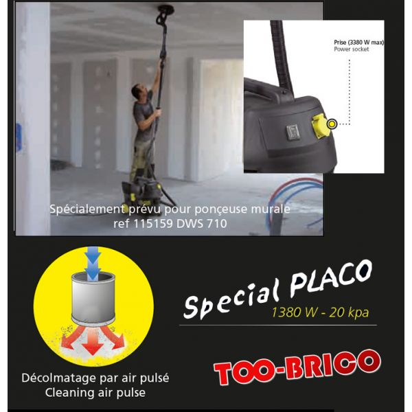 aspirateur placo eau et poussi re fartools plaster 35 too brico sarl calola. Black Bedroom Furniture Sets. Home Design Ideas