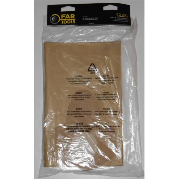 lot de 5 sacs pour aspirateur fartools net up 20 too brico sarl calola. Black Bedroom Furniture Sets. Home Design Ideas